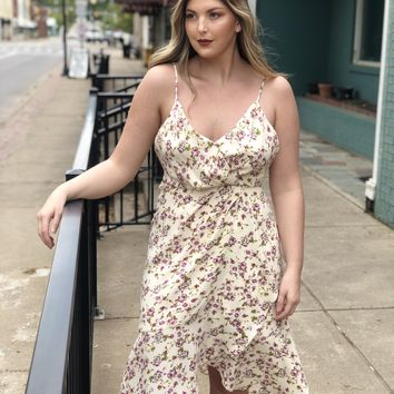 Floral Cami Ruffle Dress