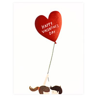 Balloon Valentine's Day Card