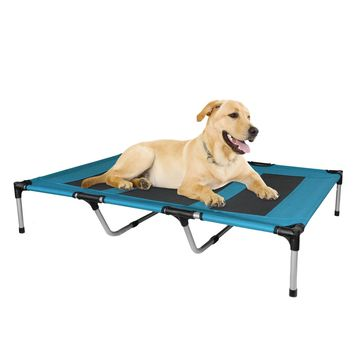 Elevated Dog Bed Portable Indoor Outdoor Patio Extra Large Blue