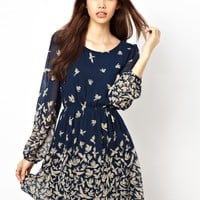 Max C London | Max C Bird Print Dress at ASOS