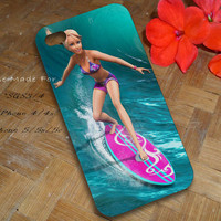 Barbie in a mermaid tale surfing case for iPhone 4/4s/5/5s/5c,Galaxy S2/s3/s4,Galaxy Note 1/2/3,Galaxy Nexus/Grand,HTC One X/M7