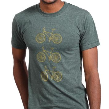 Provincetown Green Stacked Bikes in Bronze Tee Sizes M & L Available
