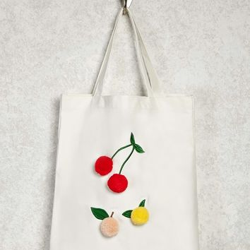 Cherry Graphic Tote Bag