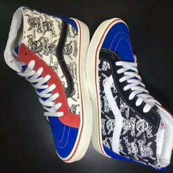 CREYONS Vans Sk8-Hi 50th Ankle Boots Old Skool Canvas Flat Sneakers Sport Shoes G-CSXY