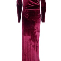 Josephine Off Shoulder Velvet Maxi Dress