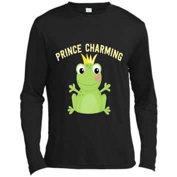 Prince Charming Frog Kiss T-Shirt. Funny Fairy Tale Hero Tee