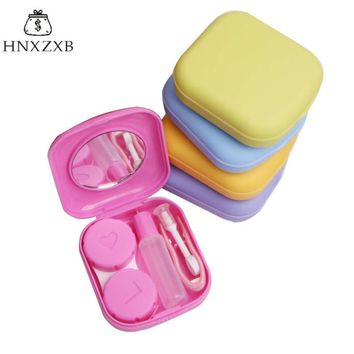 HNXZXB  New Candy Color Contact Lenses Storage Box Cute Contact lens Case Box Eyes Care Kit Holder Washer Cleaner Container