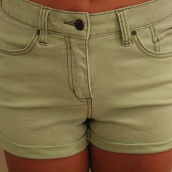 Mint Green Cutoff Shorts by p4pministry on Etsy
