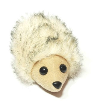 Hedgehog Plush, Hedgehog Soft Toy, Faux Fur Hedgie, Woodland Nursery, Forest Baby Shower Gift, Hedgehog Stocking Stuffer, Cute Kawaii Hedgie