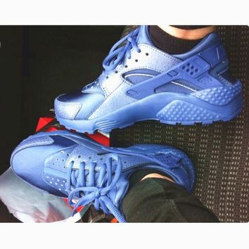 One-nice™ NIKEAIR Huarache Running Sport Casual Shoes Sneakers Sliver blue H-AA-SDDSL-KHZHXMKH