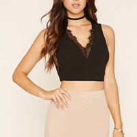 Lace-Trim Crop Top