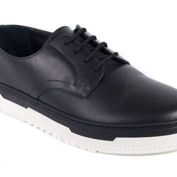 Valentino Men's Black Point Break Leather Derby Sneakers