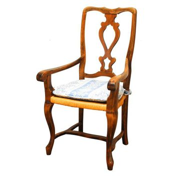 Pre-owned Vintage French Hand Carved Arm Chair