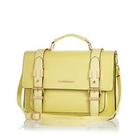 River Island Womens Yellow large satchel bag