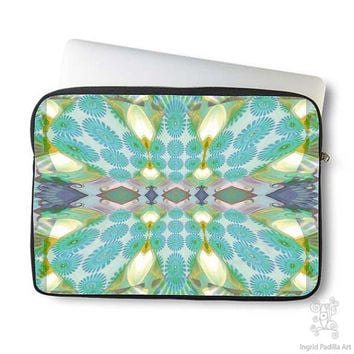 Boho, Bohemian, Daisy, vintage, Neoprene, Laptop Sleeve, Macbook case, Laptop case, Laptop Cover, Ingrid Padilla, Abstract Art