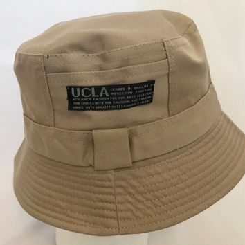 Bucket-Hat-Boonies-Hunting-Fishing-Outdoor-Men-Women Cap-Polyester-UCLA Beige