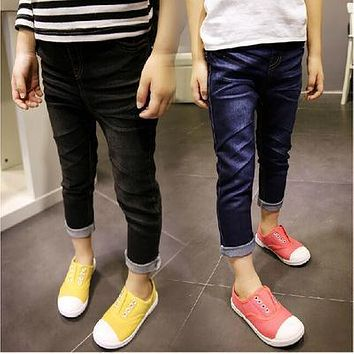 High quality Kids jeans pants,boys girls jeans,baby Feet pants,children clothing,free shipping