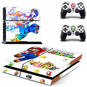 Super mario Bros design skin for ps4 decal sticker console & controllers