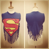 Superman Fringe Muscle Shirt by cassandracaswell on Etsy
