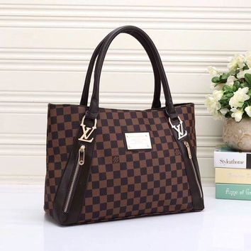 DCCK LV Louis Vuitton Women Shopping Leather Tote Handbag Shoulder Bag