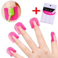 26 Pcs Curve Shape Nail Gel Polish Protector Spill-Resistant Finger Cover Sticker Polish Holder With 1pc French Nail Sticker