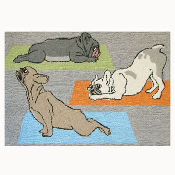 Front Porch Rug - Yoga Dogs