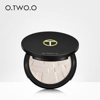 O.TWO.O Face Highlighter Powder Palette Makeup Shimmer Highlight Make Up Powder Cosmetics Hills Trimmer Bronzer