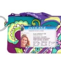 Vera Bradley Zip ID Case in Heather