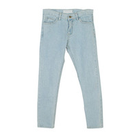 Loose Natural Blue Denim Pants by Stylenanda