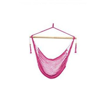Laid Back - Easy hang Island Rope Hammock Chair - Pink