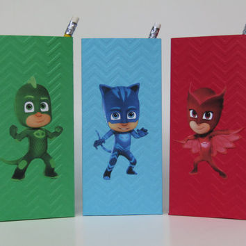 12 PJ Mask Party Favor Bag - Candy Bag- Treat Bag - Goodie Bag- Gift Bag - PJ Mask Boy/Girls Birthday Party Bag - PJ Mask Classroom Favors