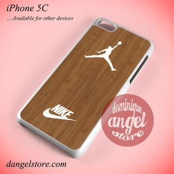Nike Jordan Wood Phone case for iPhone 5C and another iPhone devices