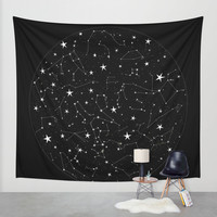 Constellations Wall Tapestry by Rachel Buske