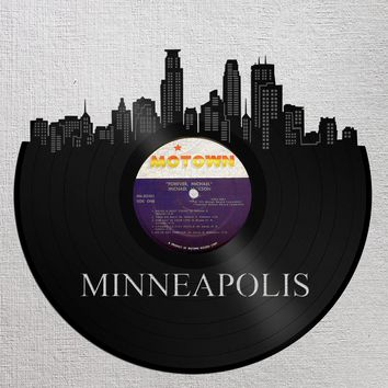 Minneapolis Art, Minnesota Wall Sign, Christmas Gift Ideas 2017, Mom Christmas Gifts Ideas, Unique Birthday Gift For Best Friend, Record Art