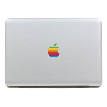 Rainbow Logo Decal -- Mac Decal Mac Sticker Macbook Decals Macbook Stickers  Apple Vinyl Decal for Macbook Pro / Macbook Air / iPad