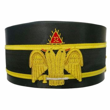 32nd Degree Wings DOWN Scottish Rite Double-Eagle Cap Hand Embroidery Bullion