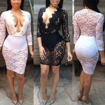 HOT LACE SHOW BODY DRESS