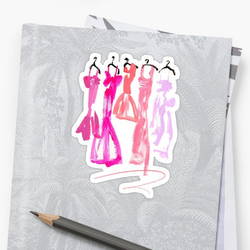 'Dresses' Sticker by rosiestelling
