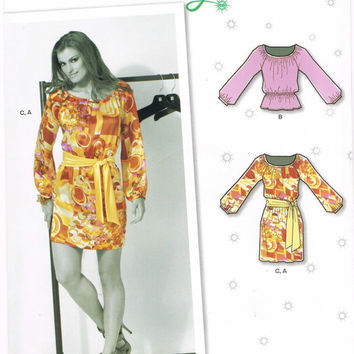New Look 6091 - 2010s Sewing Pattern - Suede Says - Misses' Dress Or Top