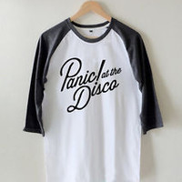 Panic at the Disco Shirt Unisex T-Shirt Raglan 3/4 Tee Size S M L #A01