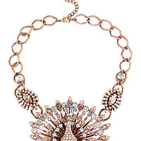 PINKTINA OPAL PEACOCK NECKLACE