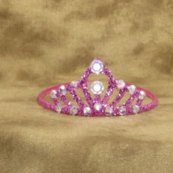 Crowns - Tiaras - Pink - Hot Pink - Pink Wedding - Hot Pink Wedding - Glitter - Princess - Costume - Bachelorette - Flower Girl - Bridal