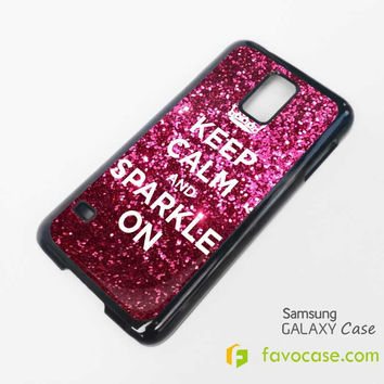 KEEP CALM AND SPARKLE ON Samsung Galaxy S2 S3 S4 S5, Mini, Note, Tab Case Cover
