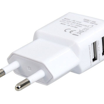 EU Plug Dual USB Travel Wall Charger