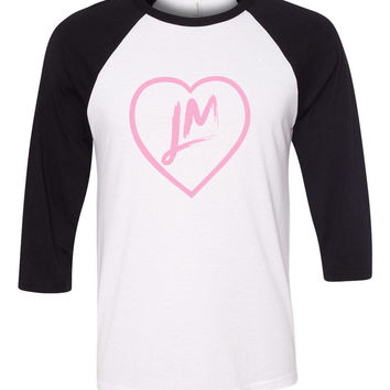 "Little Mix ""NEW LM Heart Logo"" Baseball Tee"