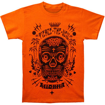 Pierce The Veil Men's  Sugar Skull T-shirt Orange Rockabilia