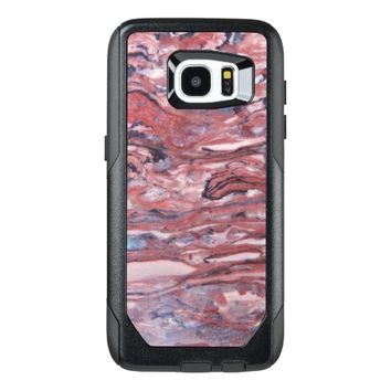 Red Mineral Stone Pattern OtterBox Samsung Galaxy S7 Edge Case