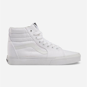 Vans Canvas Sk8-Hi Shoes White  In Sizes