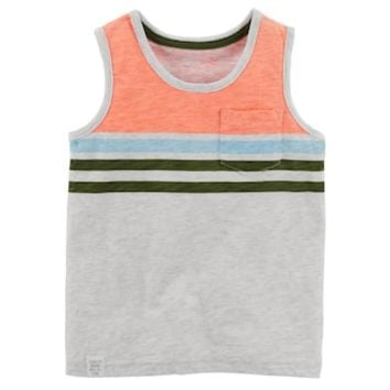 Toddler Boy Carter's Striped Pocket Tank Top | null