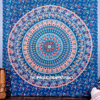 Blue Camel Tapestry Wall Hanging, Mandala Tapestries, Hippie Tapestries, Wall Art, Bohemian Tapestries, Wall Tapestries, Indian Tapestry